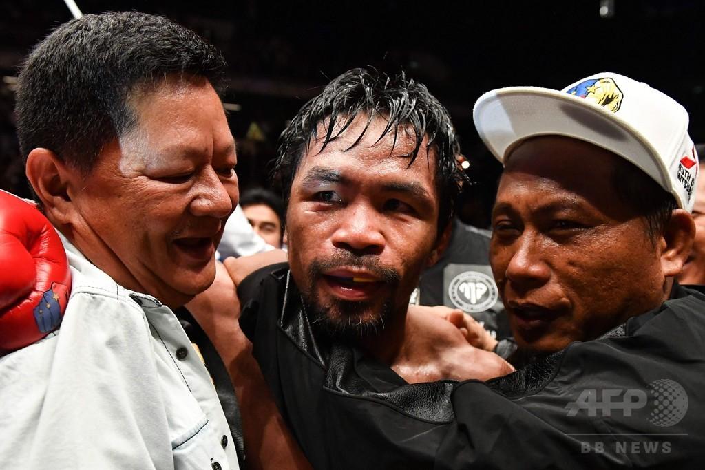 39歳パッキャオ健在、9年ぶりKO勝ちでWBA王座奪取