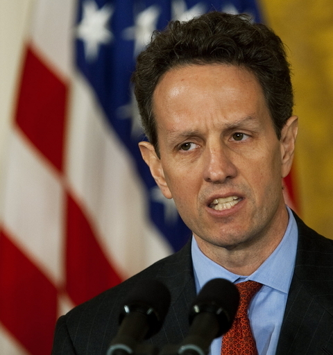 AIGボーナス問題「責任を取る」と米財務長官、辞任は否定