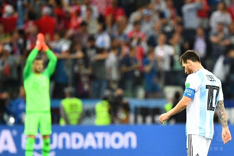 メッシ擁するアルゼンチン、クロアチアに敗れGL敗退危機