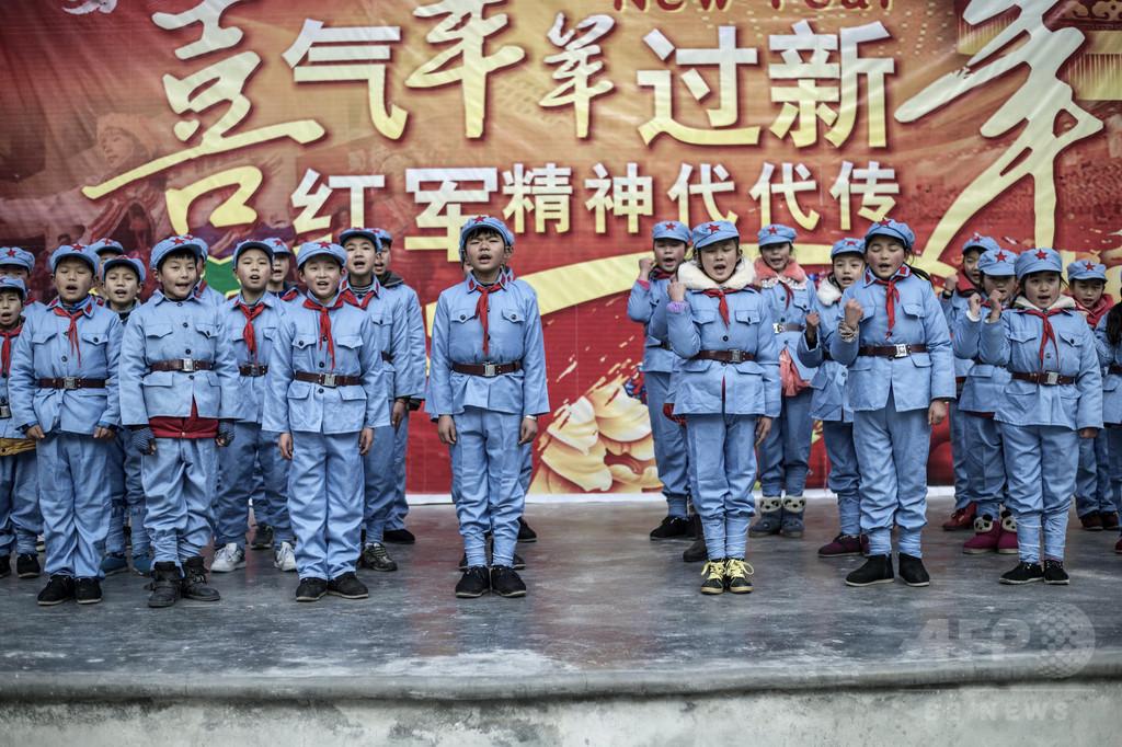 小さな紅軍兵士たち、中国小学校の愛国教育