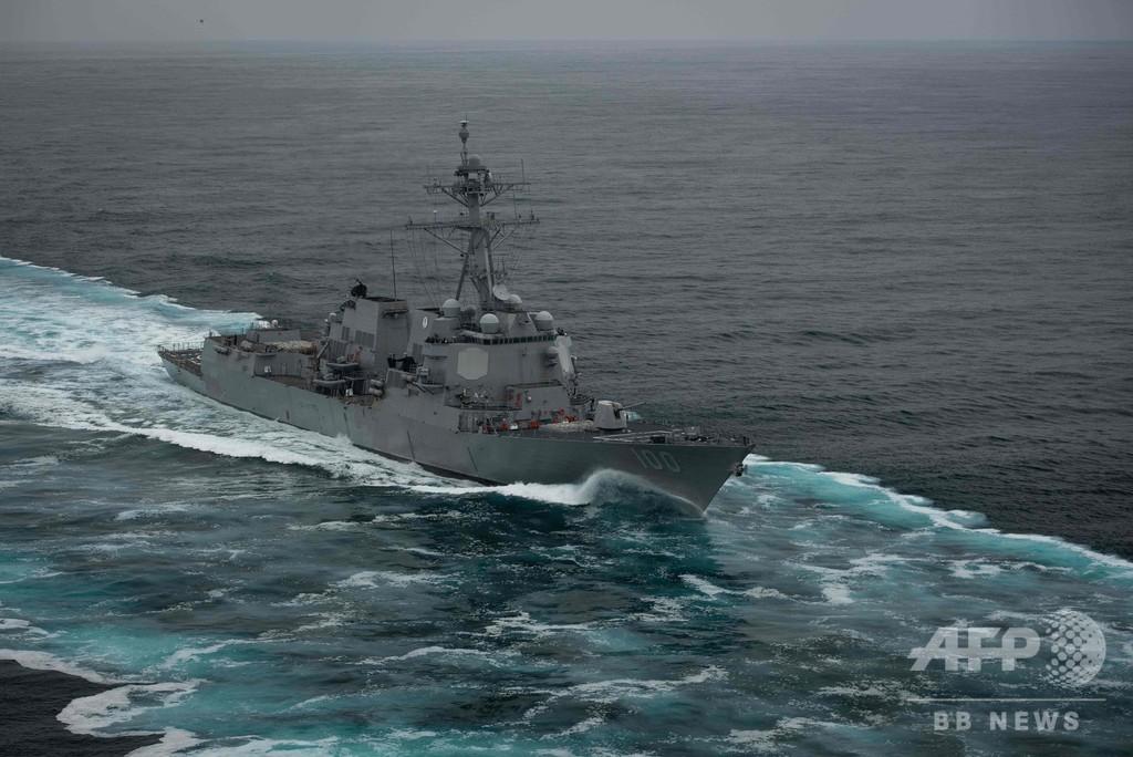米ミサイル駆逐艦で新型コロナ、18人陽性 麻薬パトロール切り上げ港へ