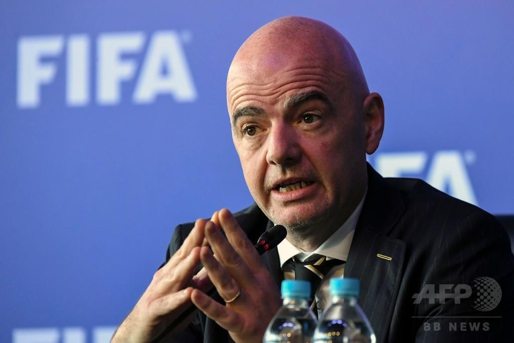 FIFA会長「W杯は戦争にならない」 ロシアの安全対策に自信