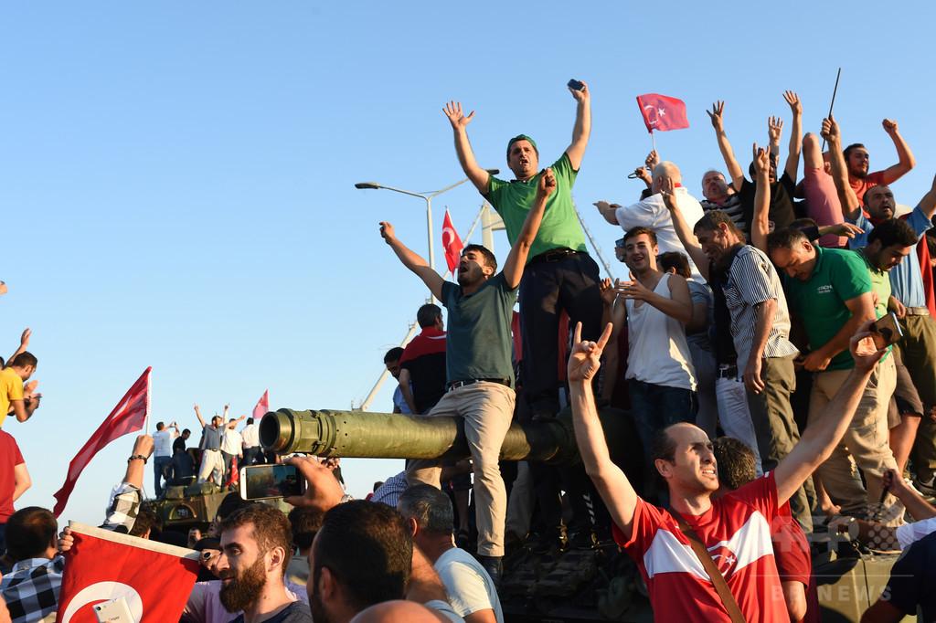 クーデター参加の104人を殺害、トルコ軍幹部 死者約200人に