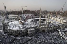 大巡礼「ハッジ」、メッカに集まり始めたイスラム教徒たち
