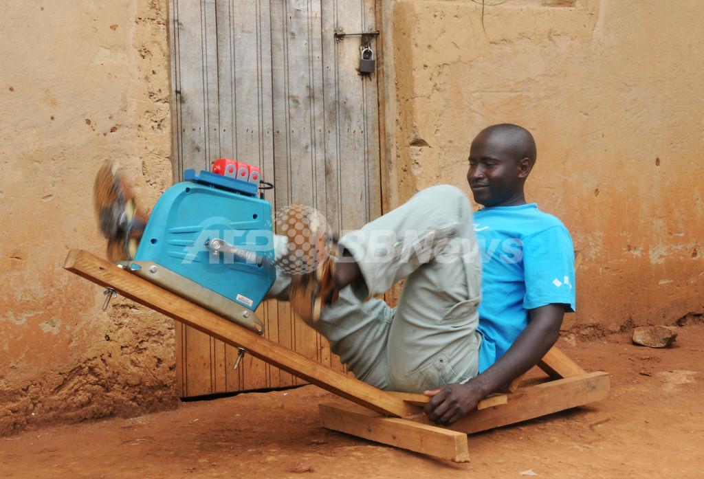 アフリカに光を灯すペダル発電、ルワンダで活躍中