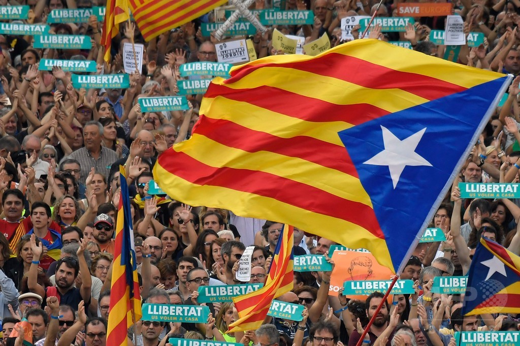 カタルーニャ独立派、「大規模な市民的不服従」を警告