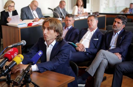 モドリッチ、古巣の汚職事件めぐる偽証の疑い晴れる