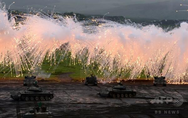 陸上自衛隊「富士総合火力演習」の予行実施