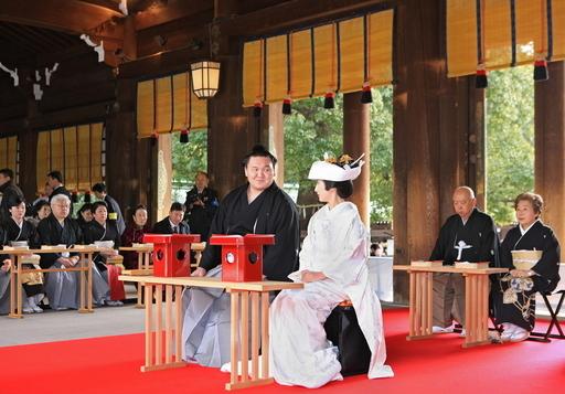 横綱白鵬が結婚式