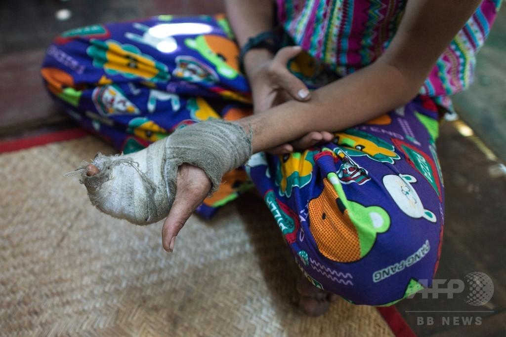 「家族を食べさせたい」と語る子、ミャンマーの好景気支える児童労働