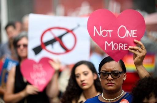 米NYで母親たちの抗議集会、銃購入時の規制強化訴え
