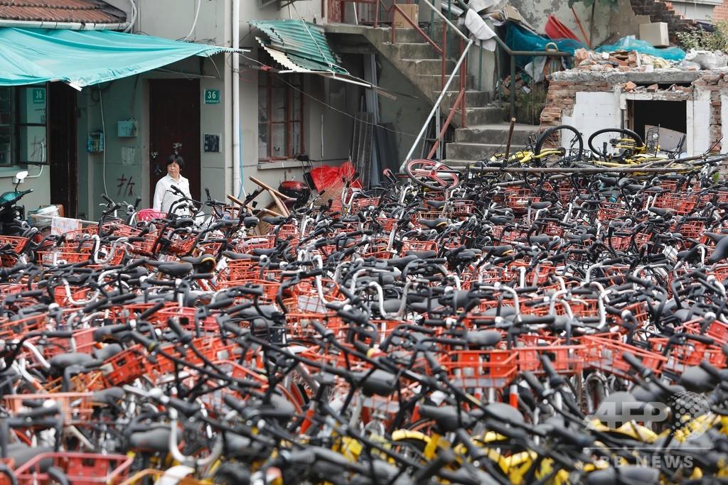 シェア自転車の「墓場」、中国全土に広がる 難題は今後のリサイクル