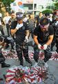 竹島問題、韓国で過激な抗議行動 キジも犠牲に
