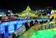 氷の彫刻、色鮮やかに ハルビン国際氷雪祭