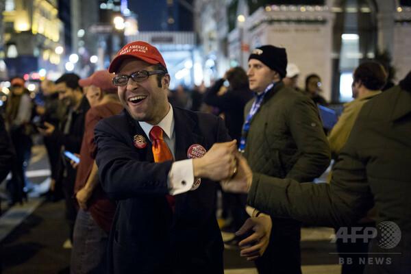 【写真特集】トランプ氏勝利で歓喜に沸く支持者たち