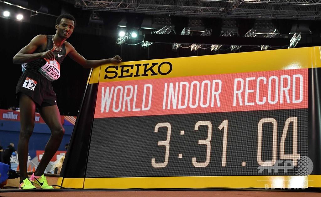 テフェラが男子1500mで室内世界新、エルゲルージ氏の記録破る