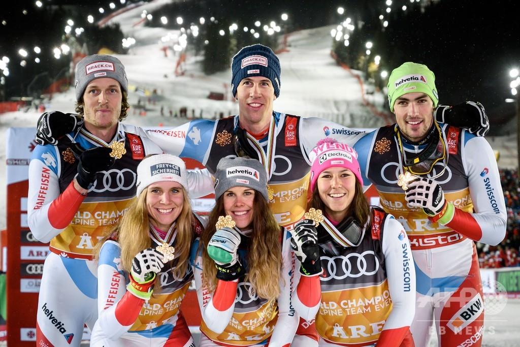 スイスが混合団体優勝、ホルドナーは2冠目 世界アルペン