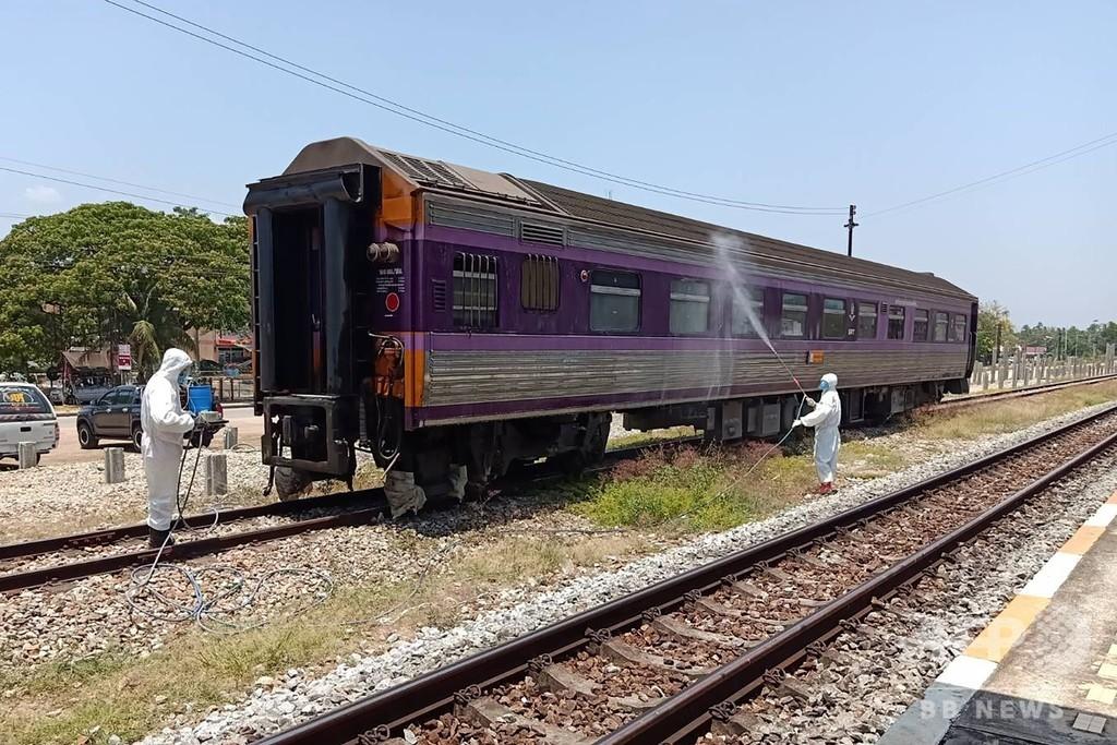 列車内で死亡の男性、新型コロナ検査で陽性 タイ