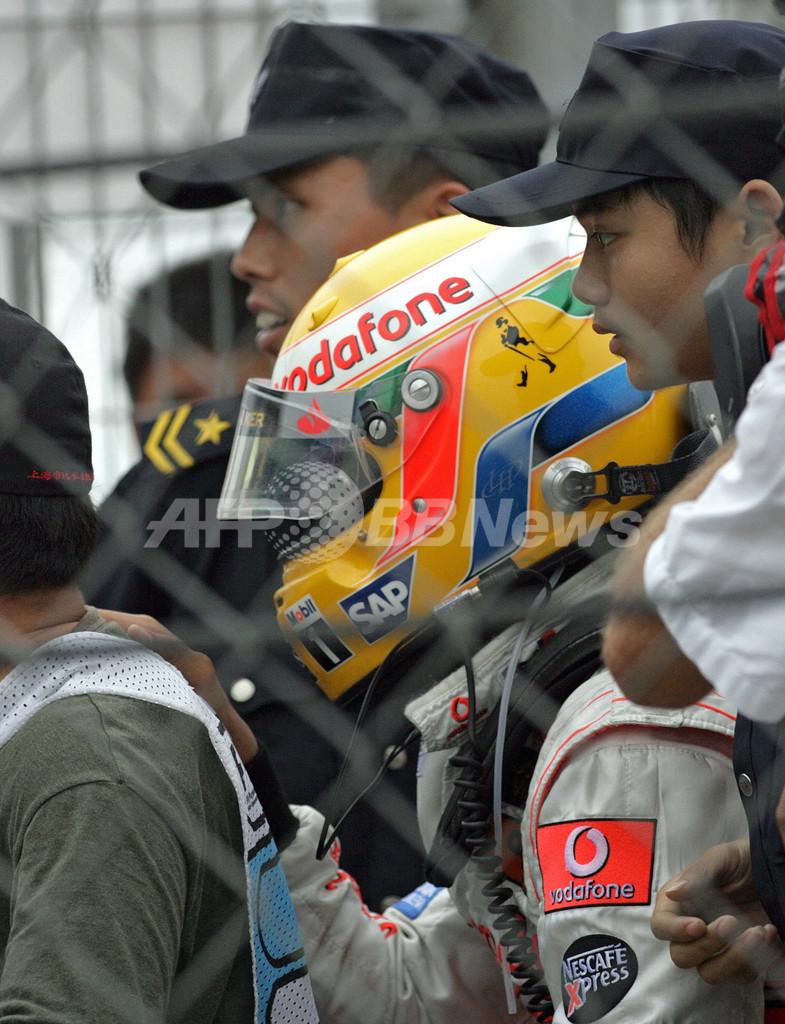 ハミルトン 中国GP・決勝でデビュー以来初のリタイア