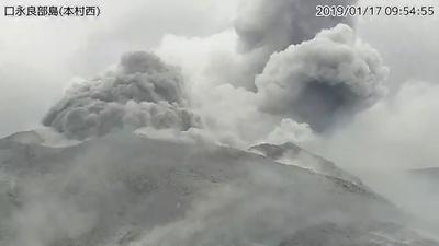 口永良部島で噴火、人的被害なし