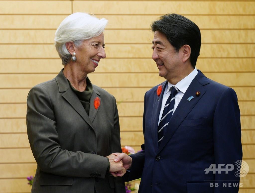 IMF専務理事、アベノミクスの見直しを要請 女性労働問題にも言及