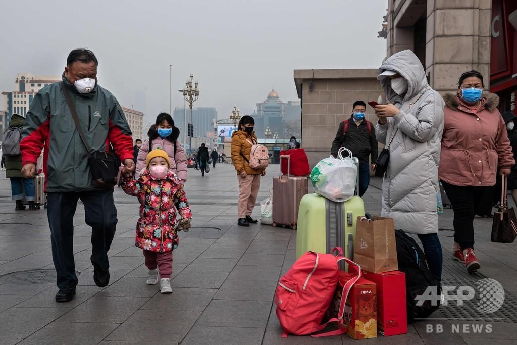 中国の新型肺炎、米が自国民帰国のチャーター機出発延期