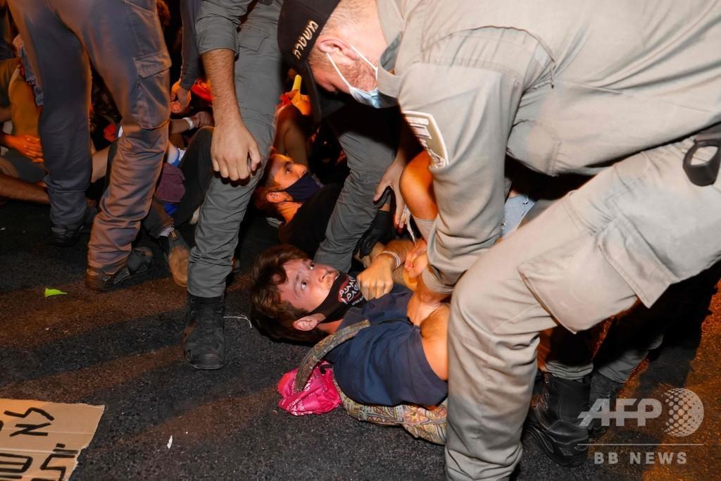 イスラエルで反政府デモ、ネタニヤフ首相の退陣要求 30人逮捕