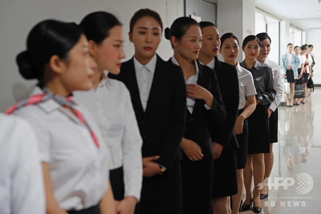 客室乗務員の入社試験、「00後」ら3000人臨む 上海