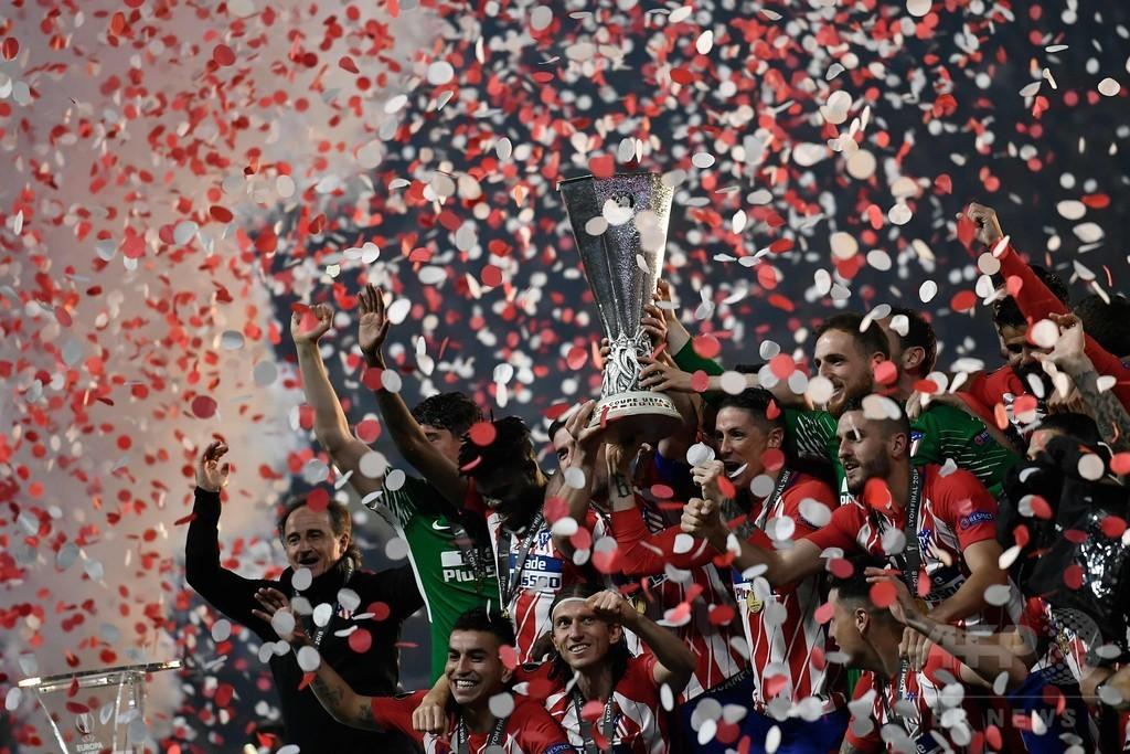 アトレティコがマルセイユ下しEL制覇、グリーズマンが2得点