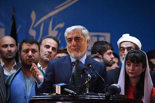 アブドラ氏、開票終了待たず勝利宣言 アフガン大統領選
