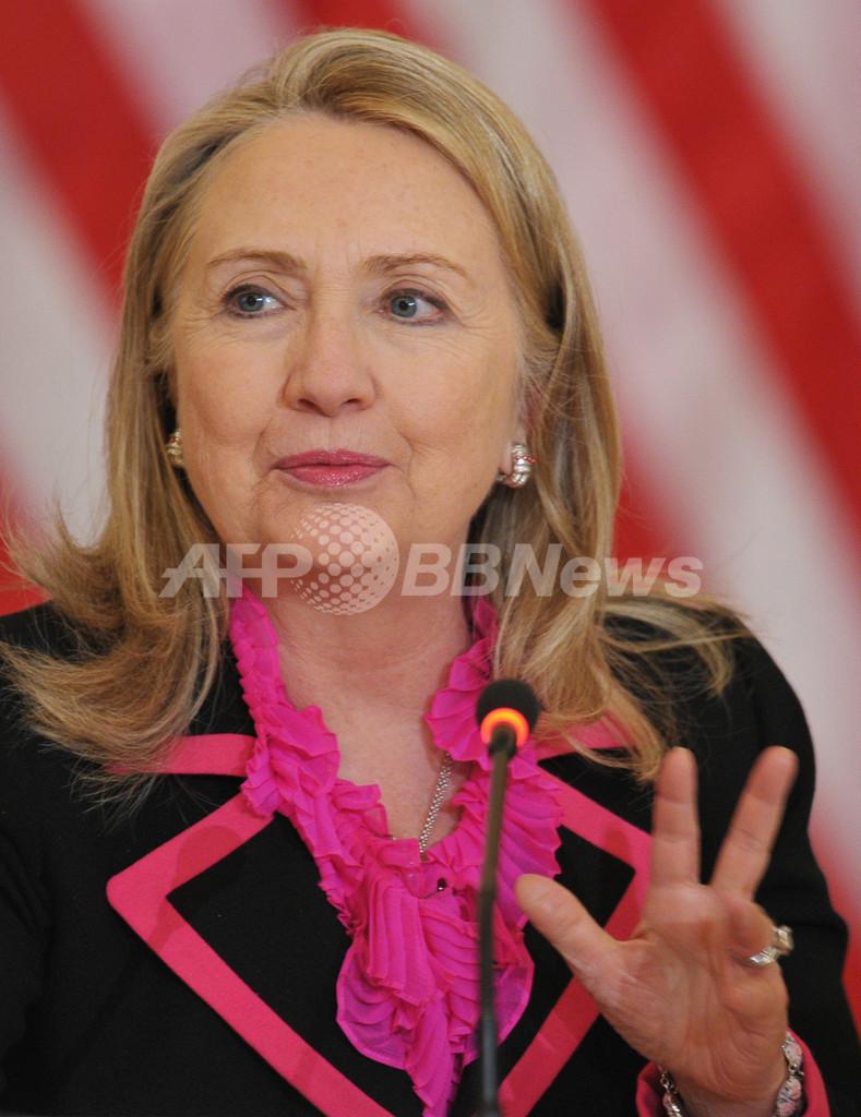 血栓で入院のクリントン米国務長官、「完全に回復する見通し」