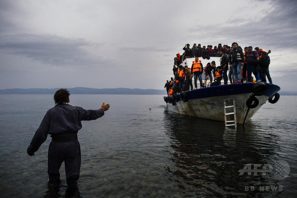 地中海を渡って欧州入りした移民数、今年だけで13万人超 国連