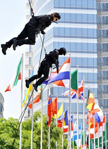 ソウルの大型会議施設で対テロ訓練