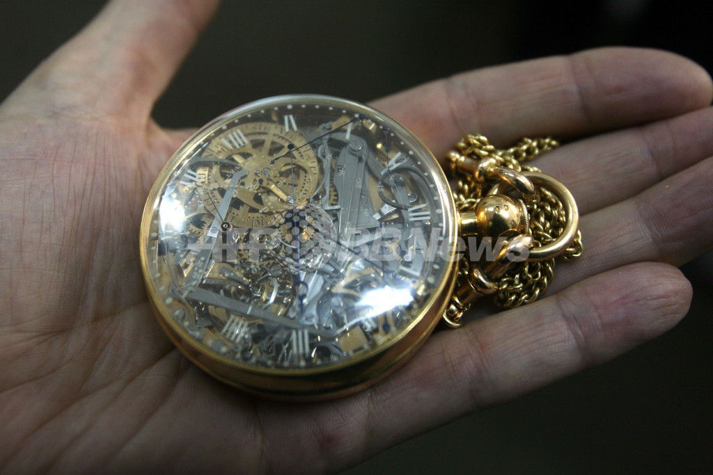 ブレゲ作のマリー・アントワネットの懐中時計、25年ぶりに見つかる