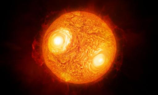 さそり座の赤色超巨星「アンタレス」、詳細な画像と想像図 ESO
