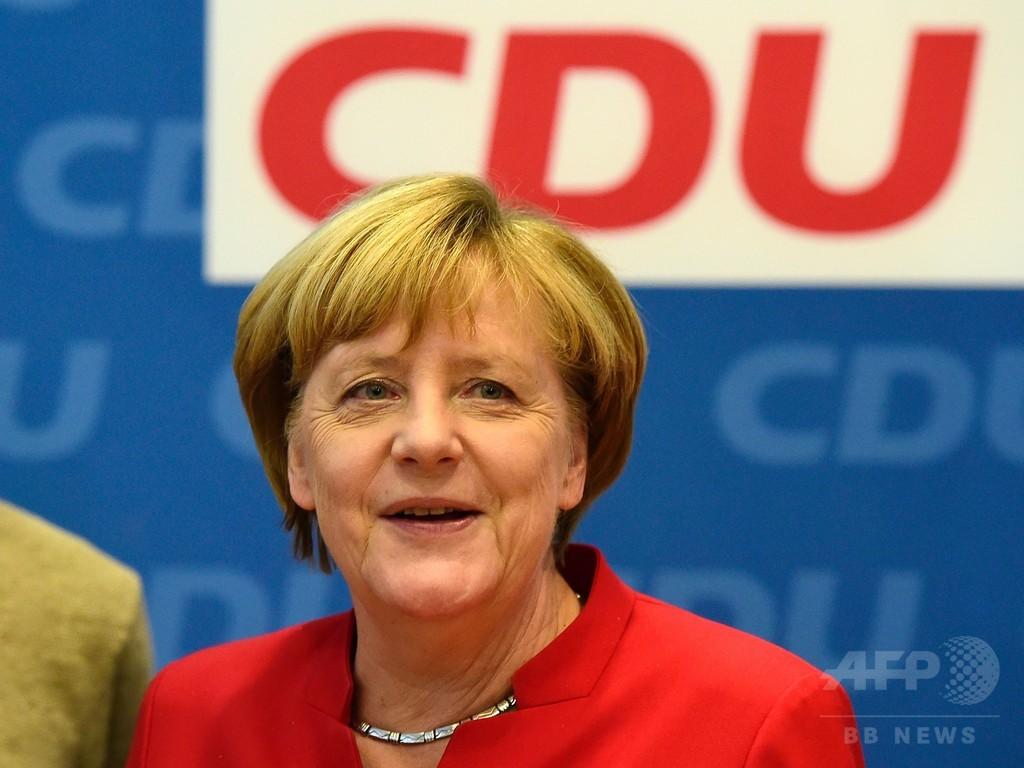 メルケル独首相、4期目へ立候補表明 「民主主義守る」