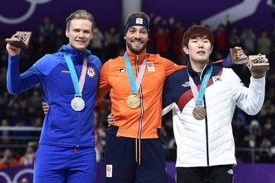 ナウシュが男子1000m制し2冠、オランダはSスケート金7個目
