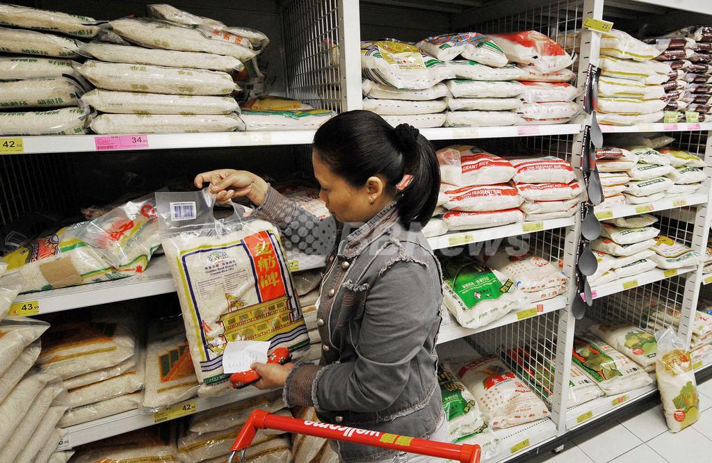 食糧価格が急上昇、香港で米不足への不安高まる