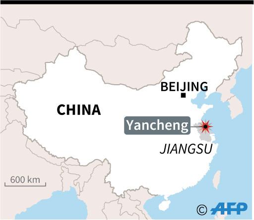 中国・江蘇省の化学工場で爆発、12人負傷