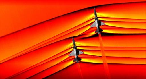 NASA、超音速機から生じる衝撃波捉えた画像公開