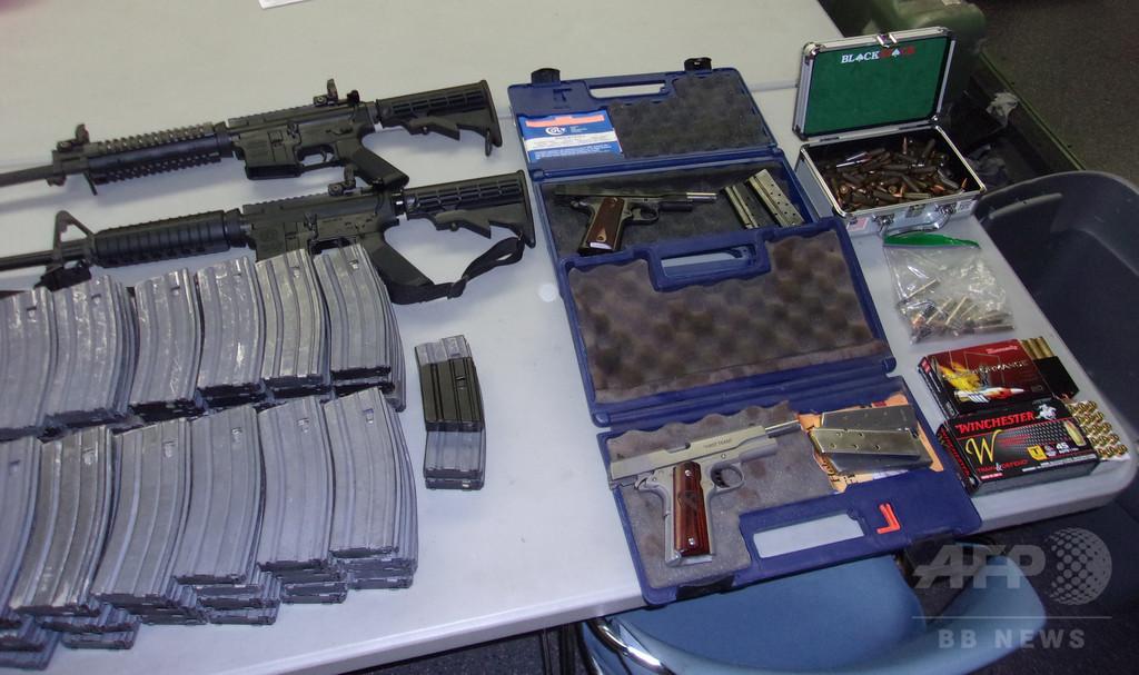 「学校で乱射してやる」、脅迫した米高校生を逮捕 自宅に複数の銃
