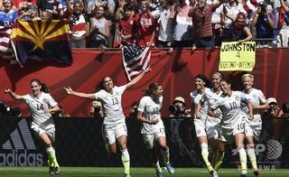 サッカー女子米国代表の提訴に連盟「驚き」、解決へ対話模索