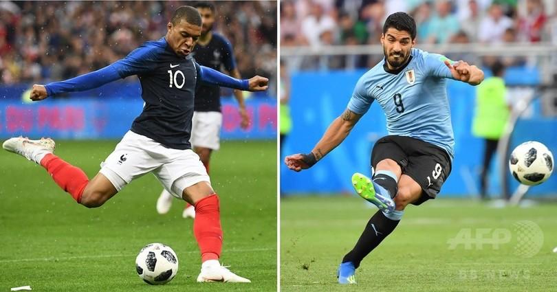 ウルグアイ対フランスの先発メンバー発表、カヴァーニは先発外れる