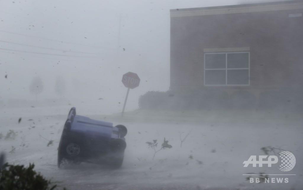 怪物ハリケーンが米フロリダに上陸 1世紀超ぶりの勢力、1人死亡