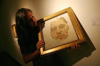英画家フロイドが描いた貴重なベーコンの肖像画、9億6000万円で落札