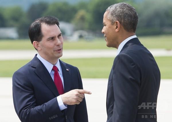 米ウィスコンシン州知事、大統領選出馬表明 共和党で15人目