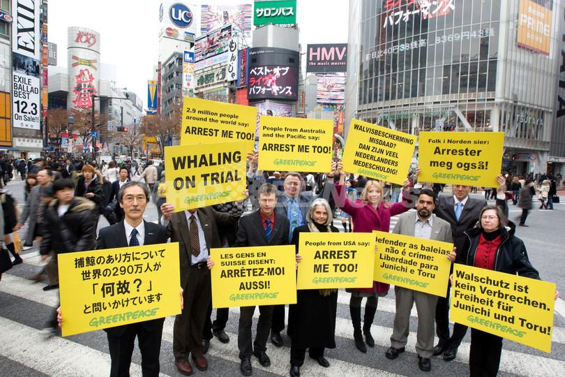 グリーンピース各国事務局長、鯨肉窃盗のメンバーの裁判に抗議