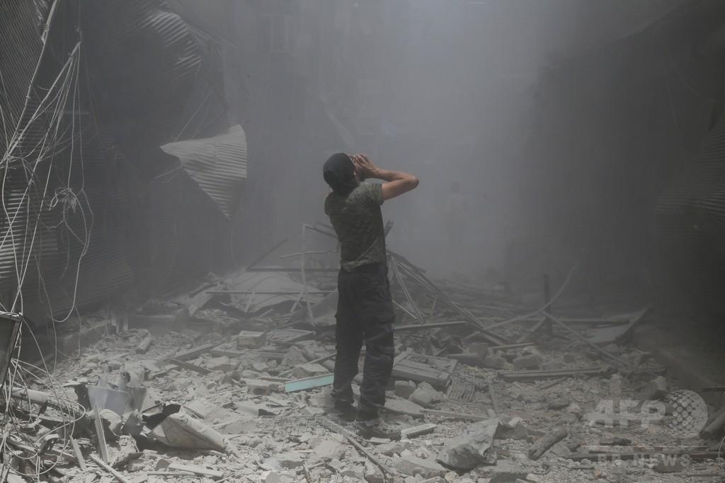 シリア政府軍がアレッポ空爆、民間人16人死亡 監視団