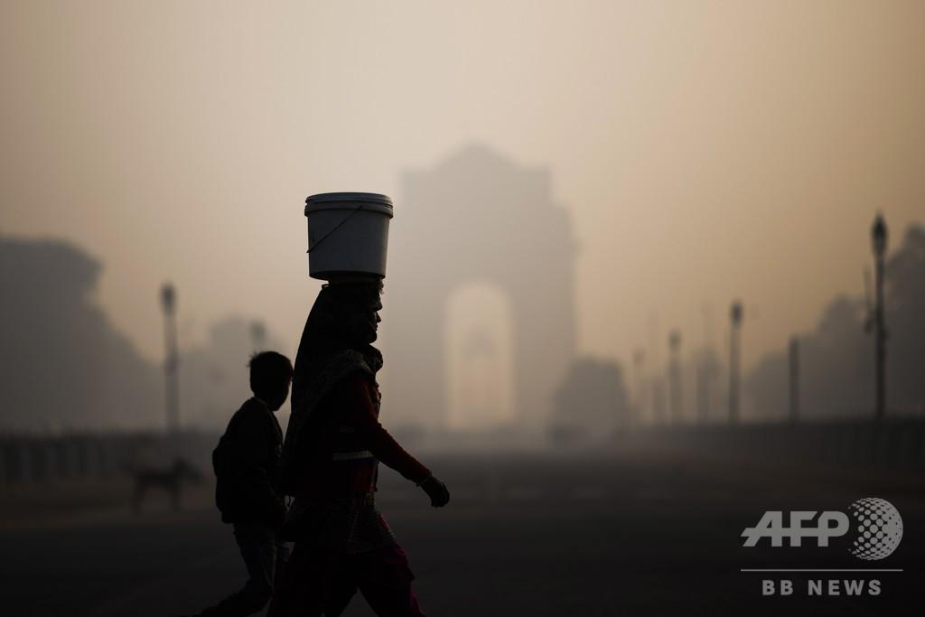 環境汚染の関連死、インドが世界最多 報告書