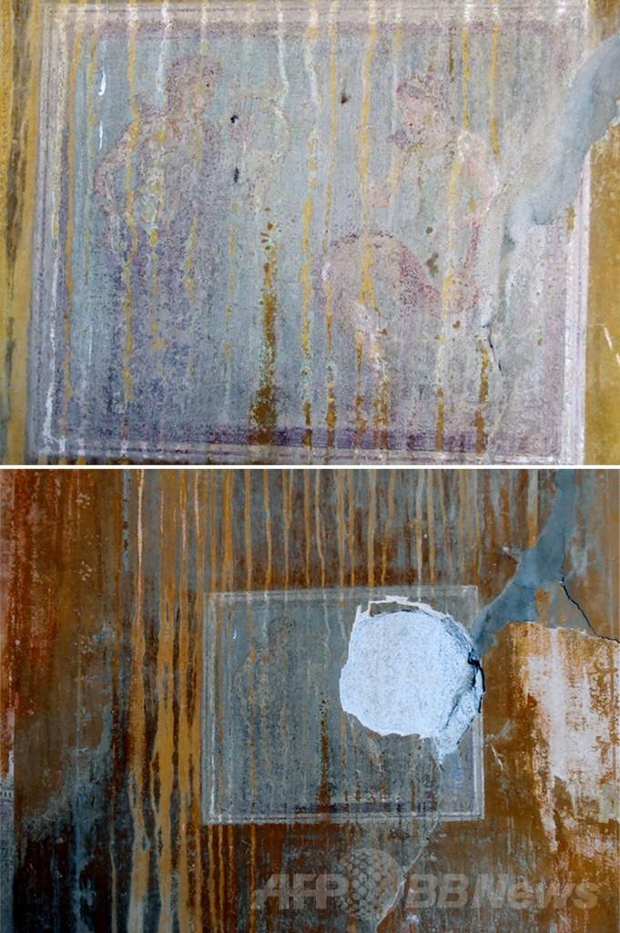 ポンペイ遺跡からフレスコ画が盗まれる、はぎ取られた可能性 伊